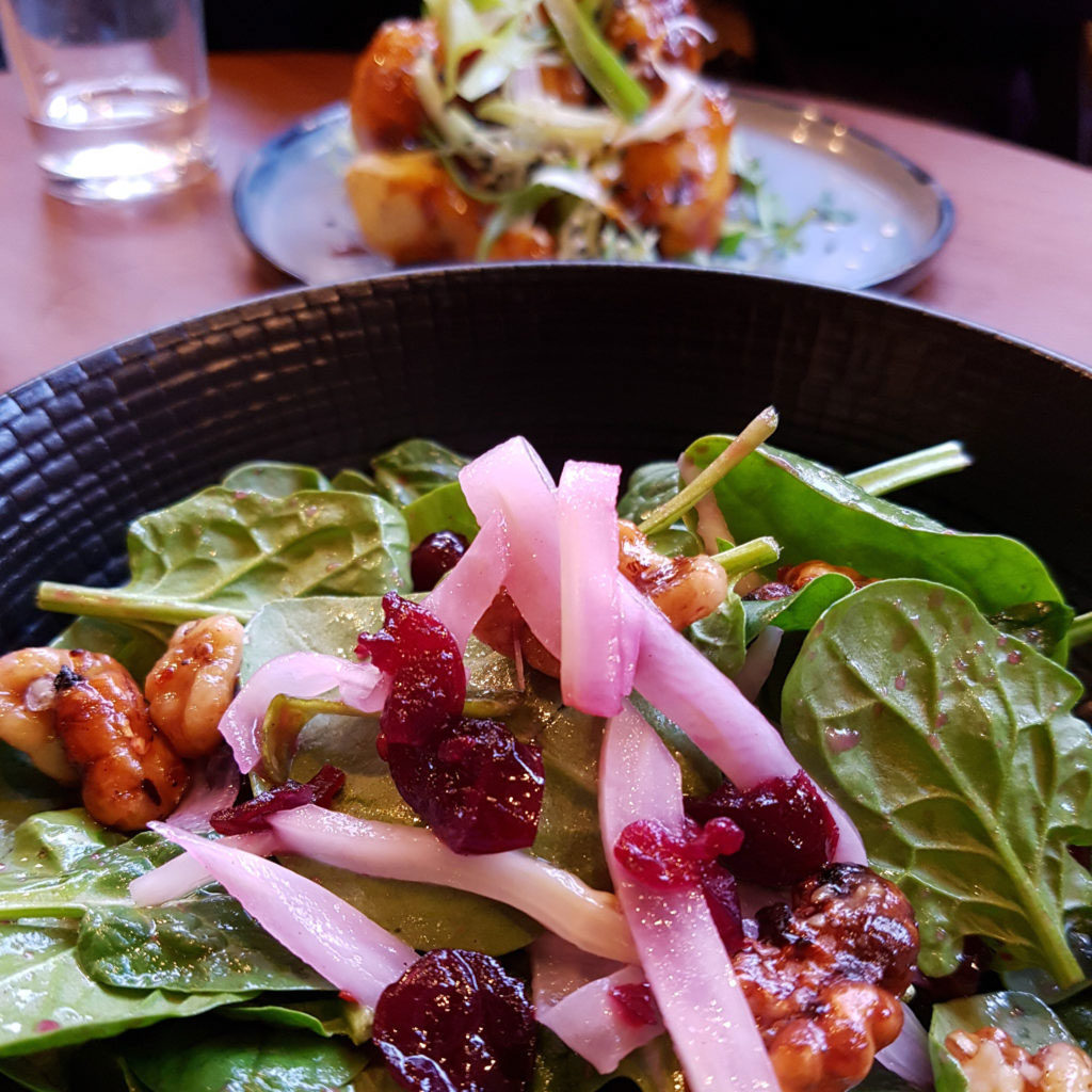 Pickled walnut and cranberry salad